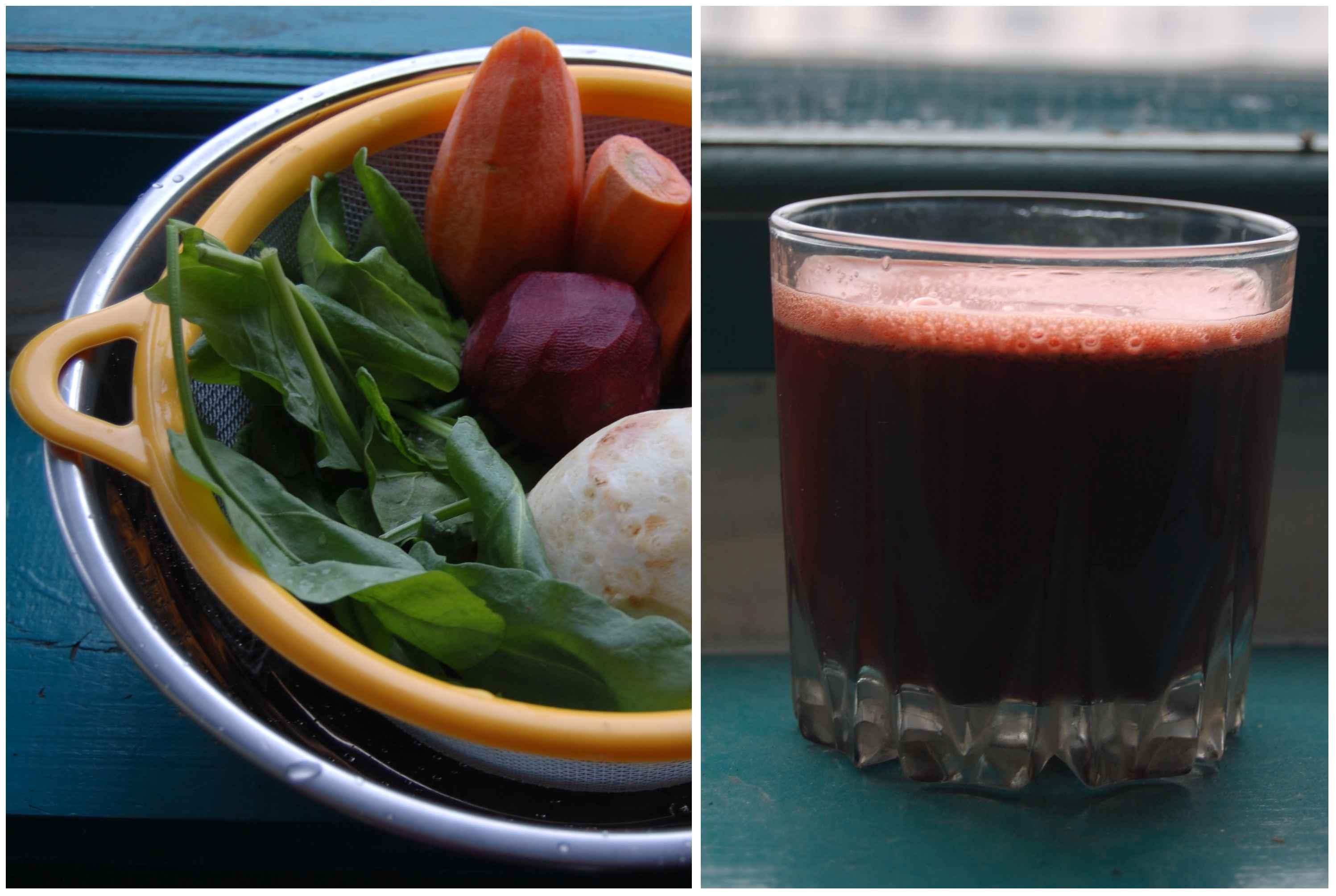 Фото свежевыжатый сок (фреш) свекла-морковка (рецепт)