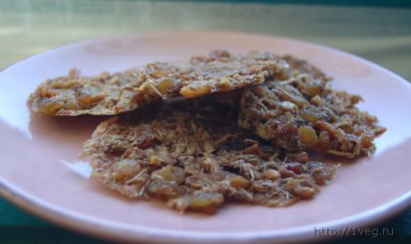 Фото овсяное печенье сыроедное (сыроедческое) - рецепты