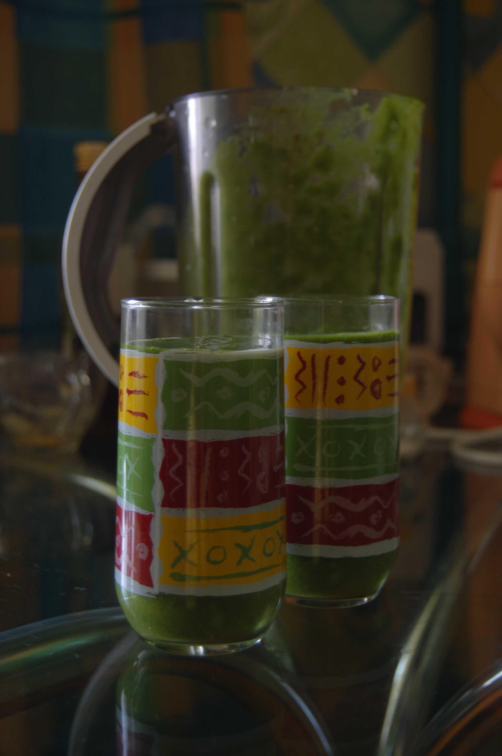 Фото зеленый коктейль (рецепт)