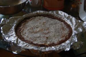 Торт в форме из фольги