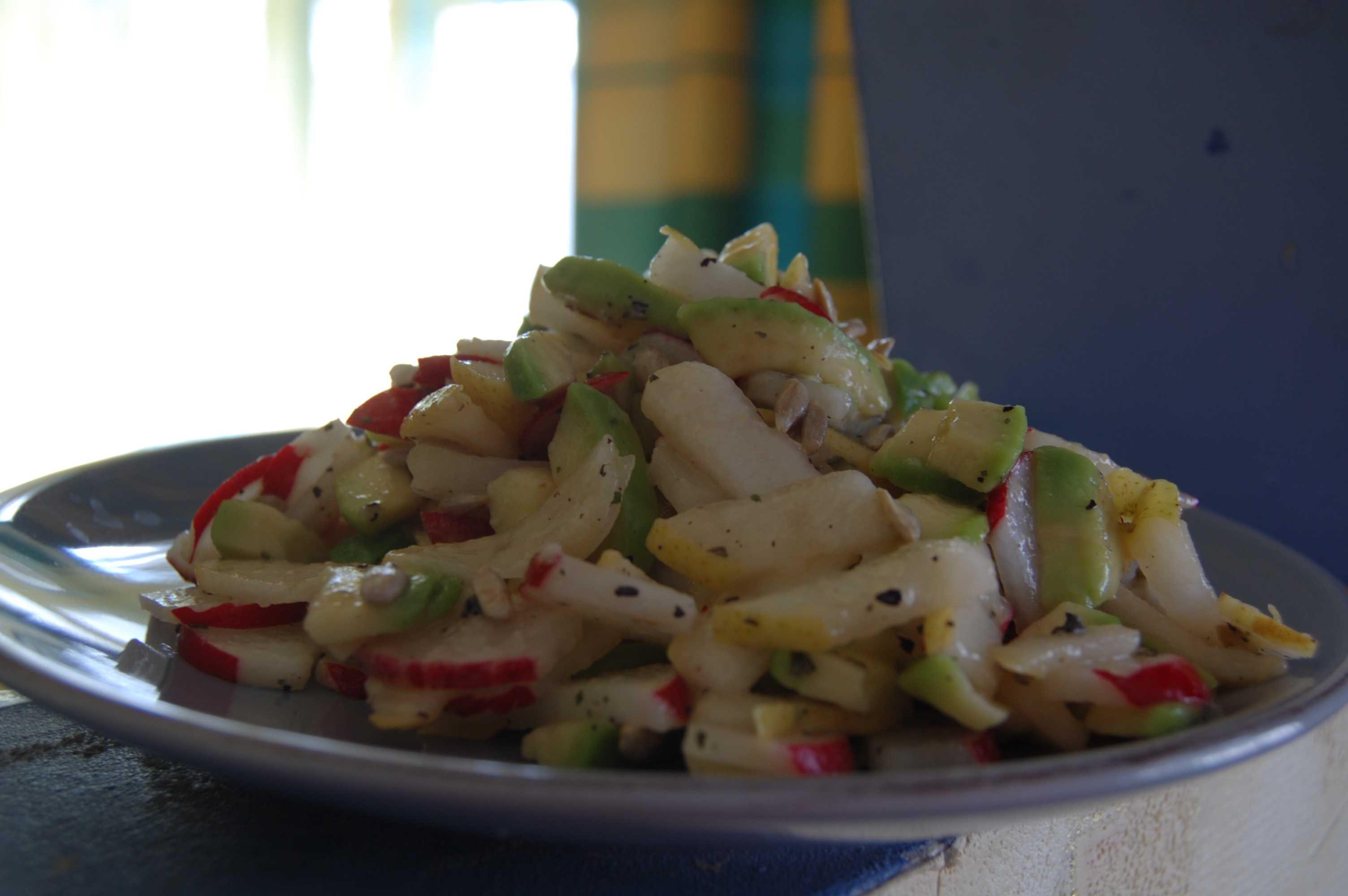 Фото салат авокадо-груша (рецепт)