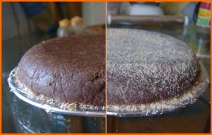 Марципановый торт украшенный стружкой