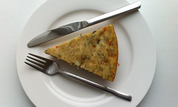 Капустник - быстрый пирог из капусты, вегетарианский рецепт