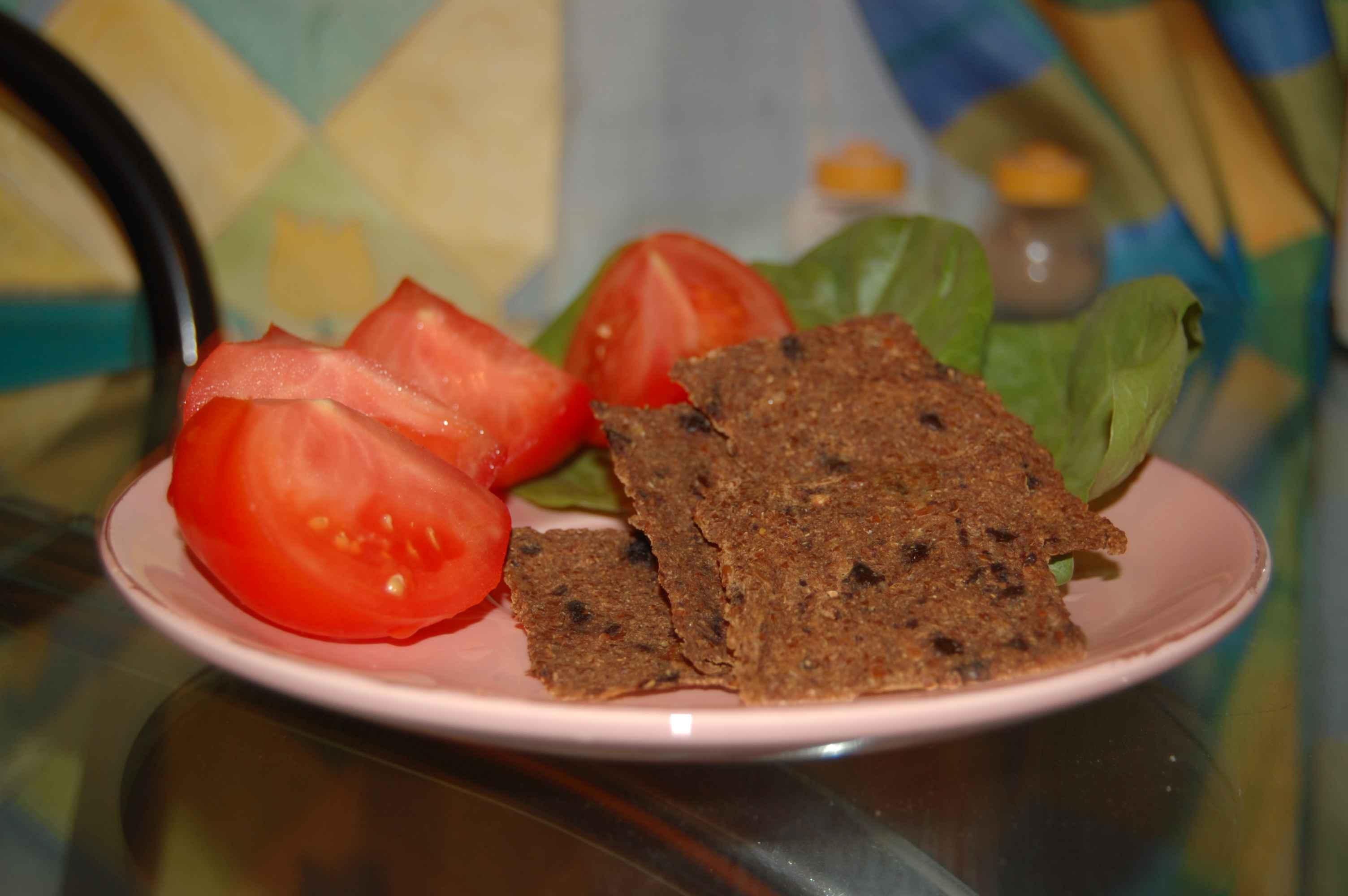 Хлебцы из льна и кабачков (сыроедные) - рецепты
