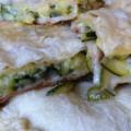 Слоенный пирог из кабачков и сыра моцарела - простой рецепт