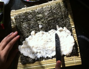 Рецепт: Вегетарианские суши роллы с овощами, Первый Вегетарианский