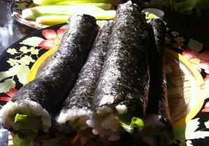 Готовые вегетарианские суши роллы