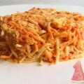 Простой постный овощной салат – из свежей моркови и корня сельдерея