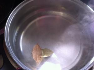 Лавровые листки в воде