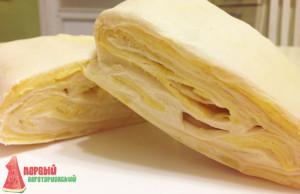 Слоеное бездрожжевое тесто без яиц готово