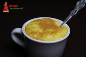 Заварной крем без яиц в чашке