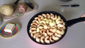 укладка яблок для тарт татена