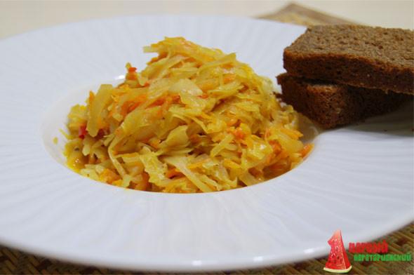 тушеная капуста рецепт в сковороде пошаговый рецепт с фото