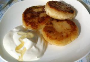 Творожный сырники без яиц
