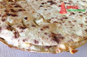 Быстрая пицца с овощами