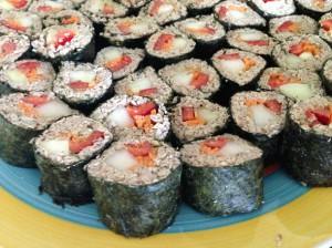 Сыроедные суши роллы