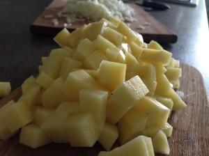 Картошка для зеленого борща