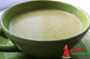 Суп-пюре со шпинатом и сыром