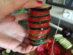 столбик из овощей рататуя