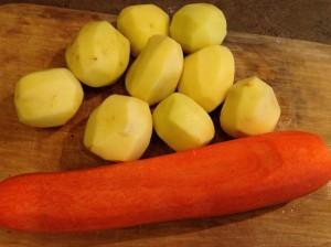 чищеные овощи