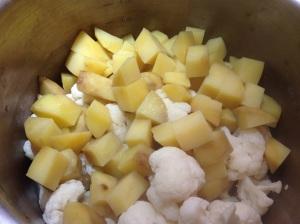 картошка и капуста для крокет