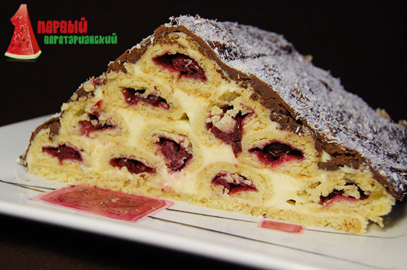 Торт монастырская изба с вишней рецепт