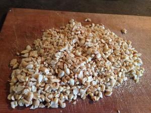 порубленный арахис